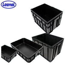 Cheap circulation plastic crate ESD box for component contair