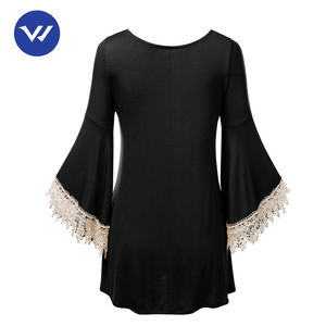 Perfect design women long sleeve dressy tunic shirts tops