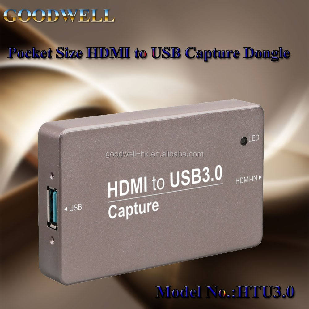 No need extra Power Adaptor Pocket Size USB 3.0 Video Capture Box for Video Streaming