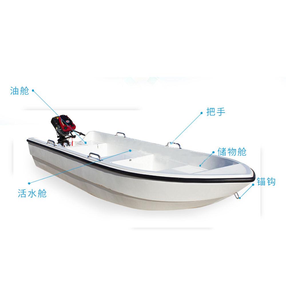 3.7m 12ft fiberglass passengers fishing panga boat