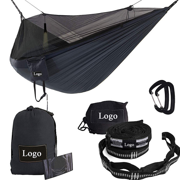 Ripstop nylon portable camping hammock hammock with mosquito net for backyard backpacking hiking