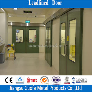 Radiation Protection Shielding Sliding Lead Door For X-Ray Room