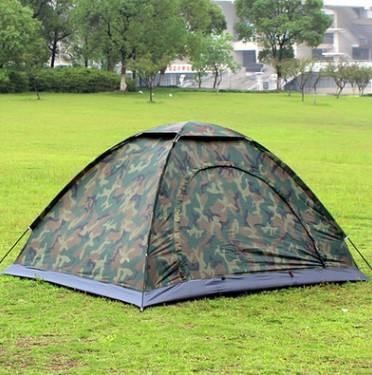 Outdoor Single Layer Beach Canvas Tent Camp Camo For 2 Man Tourist Beach Tent