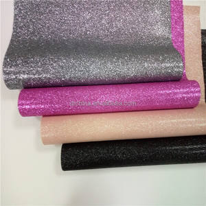 Glitter colour high quality pu fabric leather for bags