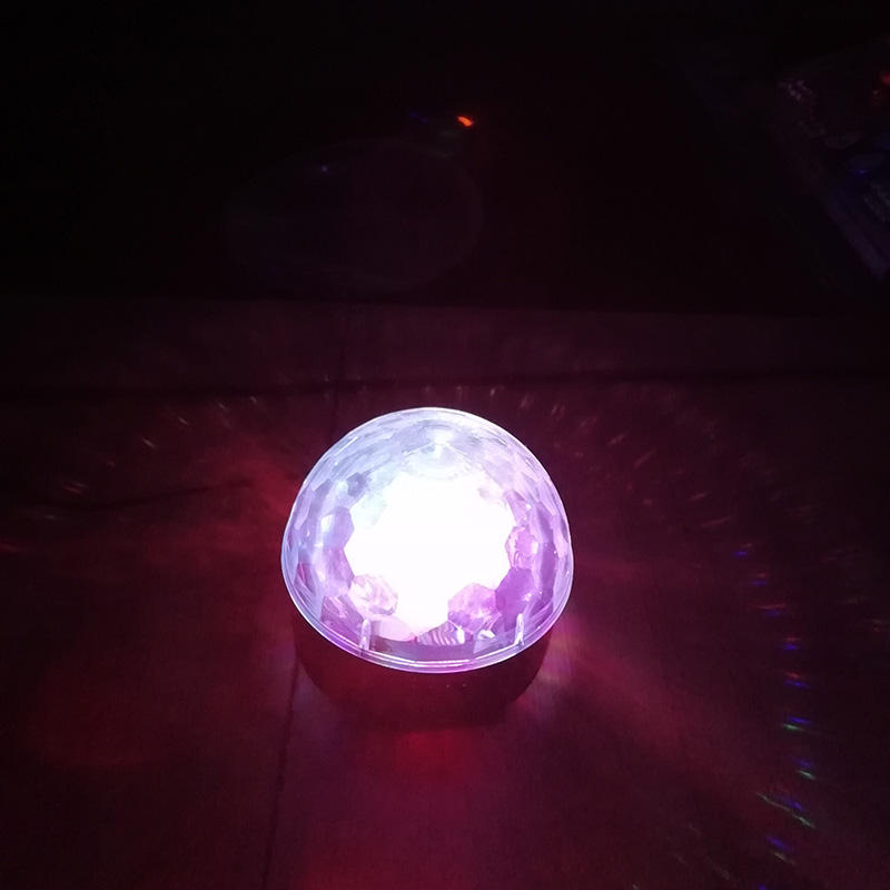 6 Pcs 1 W LED UFO Crystal Magic Ball Panggung Disko Pencahayaan