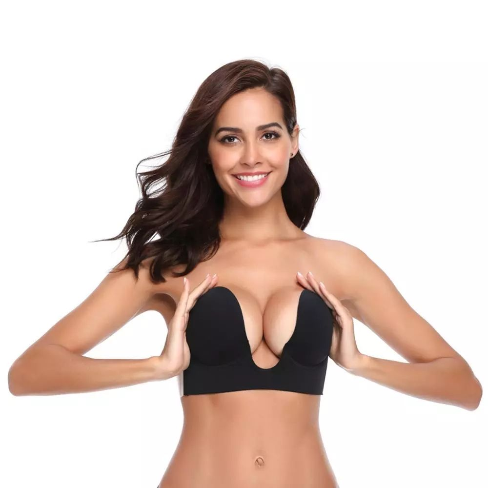 U Style Silicone Bra Pad For Swimsuit Strapless Push Up Invisible Bra