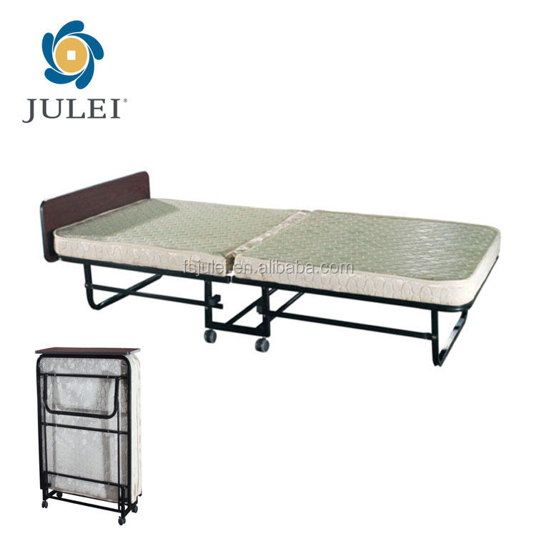 EASY TAKE GUEST FOLDING EXTRA ROLLAWAY BED WITH UNIVERSAL WHEELS