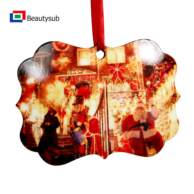 Beautysub Sublimation MDF Ornaments By Laser Cutting