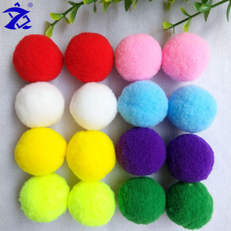 1cm/2cm/3cm/4cm/5cm/6cm Multicolor Colorful Polyester Pom Pom Wholesale