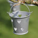 Mini Silver HEART Wedding Favor Pails Buckets Party Table Decoration Bucket New