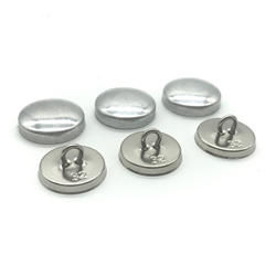 wholesale two part combined iron wire back round shank fabric cover button blanks
