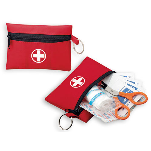 CE ISO Approved KF446 mini size red color first aid kit