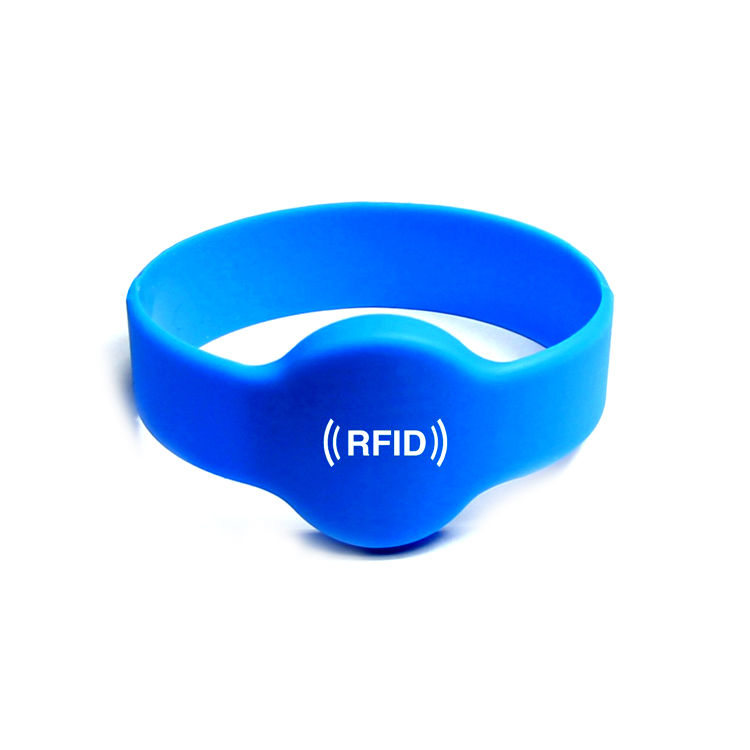 Factory programmable S50 event nfc passive rfid chip silicone wristband