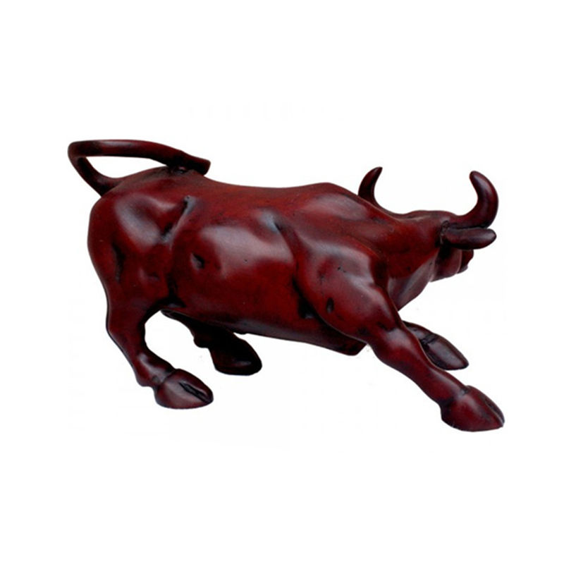 custom resin red bull figurine statue