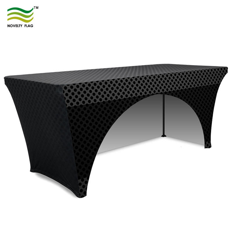 Personalizzati In Plastica Montato Panno Stretch Cross-Over Table Covers