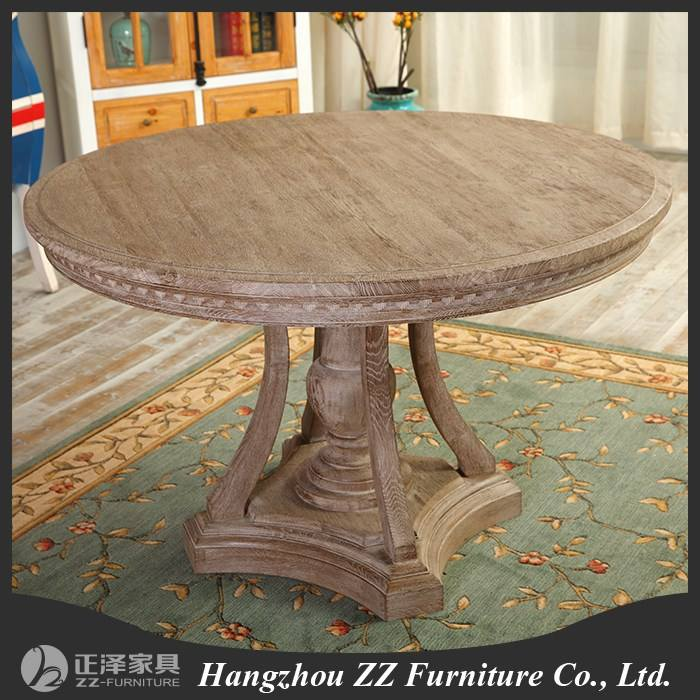 Round Oak Farmhouse Refectory Table Kitchen Dining table