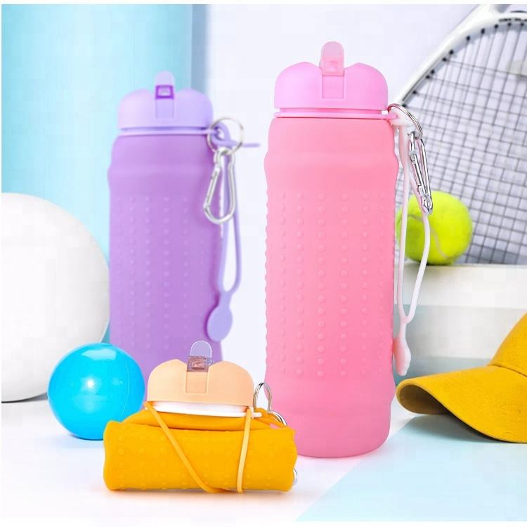 Sports Water Bottle [ Water Bottle ] Water Bottle Empty Collapsible Silicone Bpa Free Sports Water Bottle Manufacturer