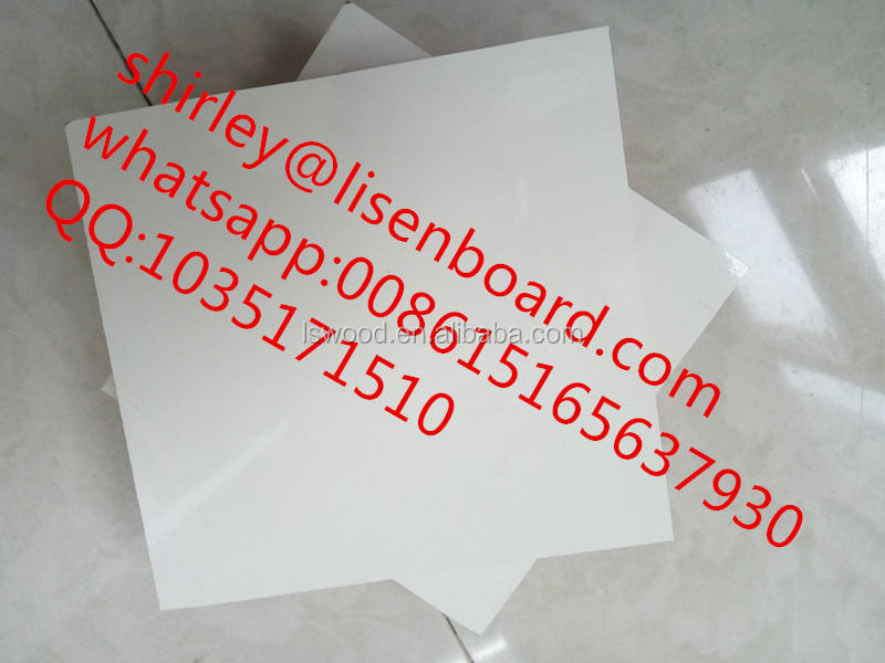 Plywood Board 5mm High Gloss White Laminated Polyester Plywood/MDF Board