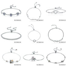 New arrival hot sale 925 sterling silver jewelry wholesale bracelet