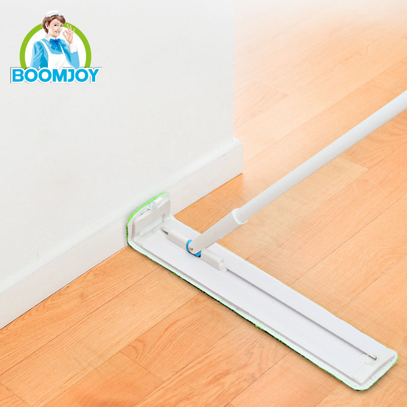 BOOMJOY Original Inventor 360 Swivel Slide Flat Floor Cleaner Cheaper Industrial and Home Mop with 2 Microfiber Heads