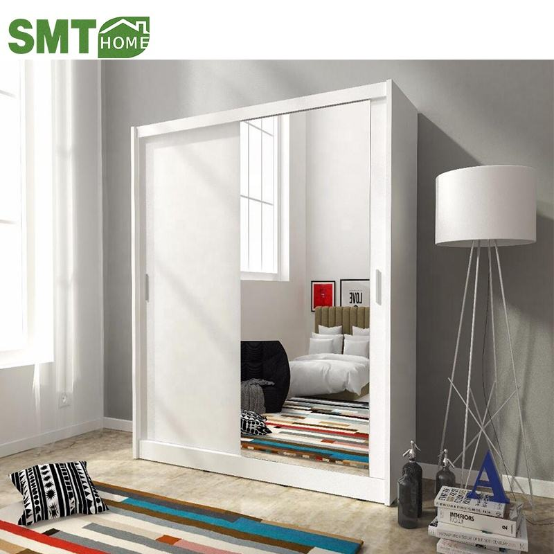 Modern design customized bedroom closet wardrobe with mirror
