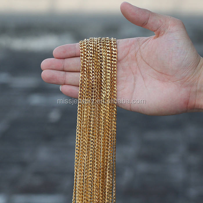 Small 24k Gold Chain Necklace Hip Hop
