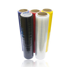 Black Lldpe Pallet Shrink Wrap Stretch Packing Film Jumbo Roll