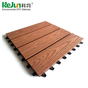 Anti-slip WPC interlocking DIY decking tiles/ cheap price wpc flooring/ outdoor solar decking