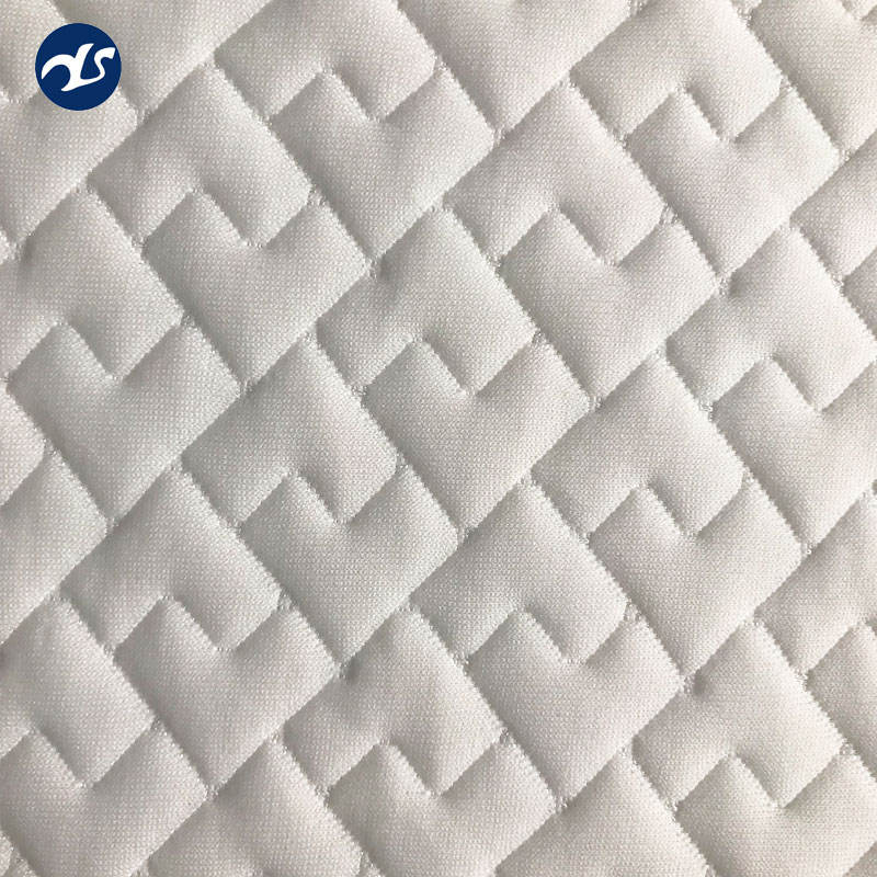 2019 new style mattress knitted polyester fabric white