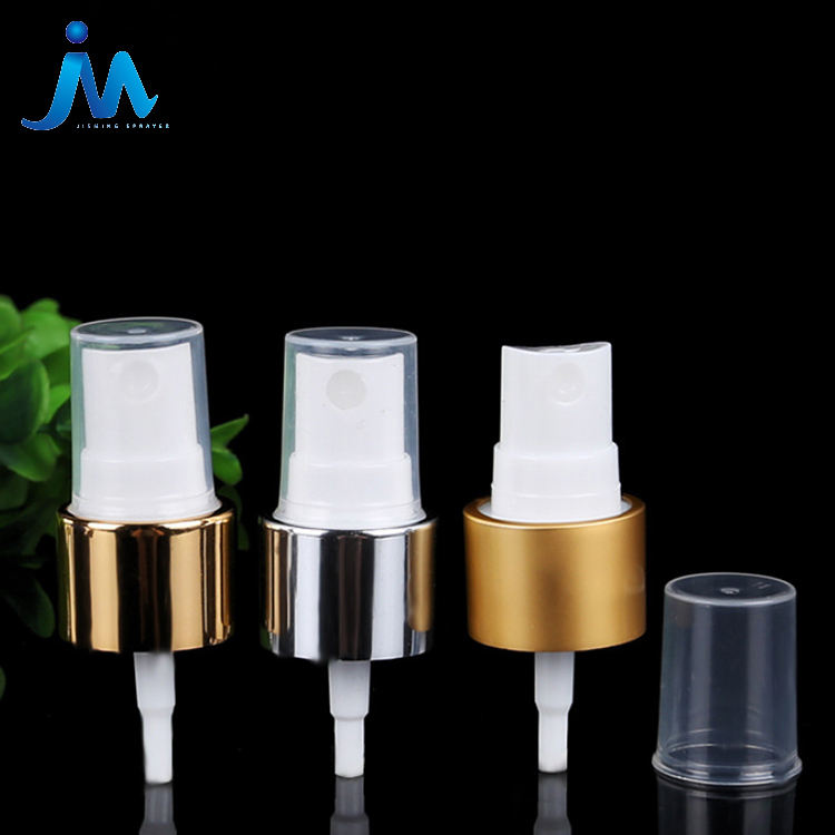 Colorful Promotional Aluminium Rose Gold Screw Closure Plastic Disinfection Spray Perfume Mist Mini Sprayer Pump