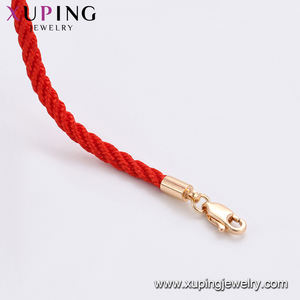 75558 Xuping Jewelry Popular and Simple Red String Chains Bracelet
