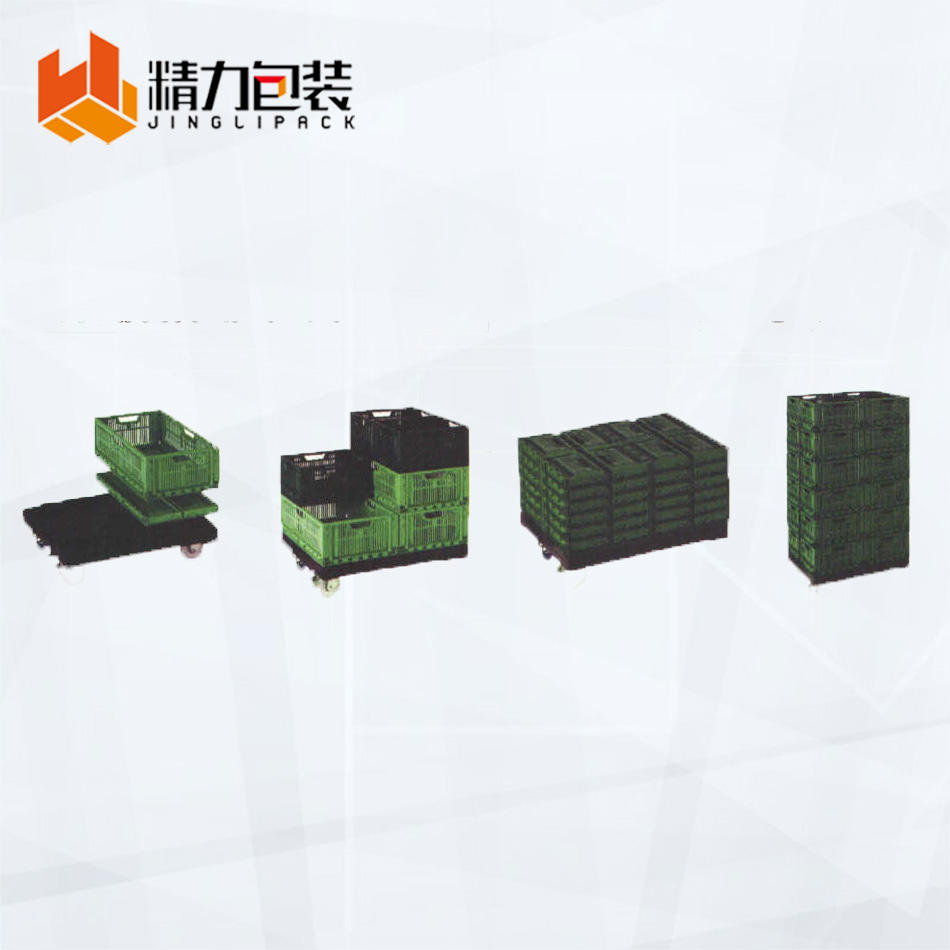 China Factory Fruit Folding Plastic Moving Stack Crate