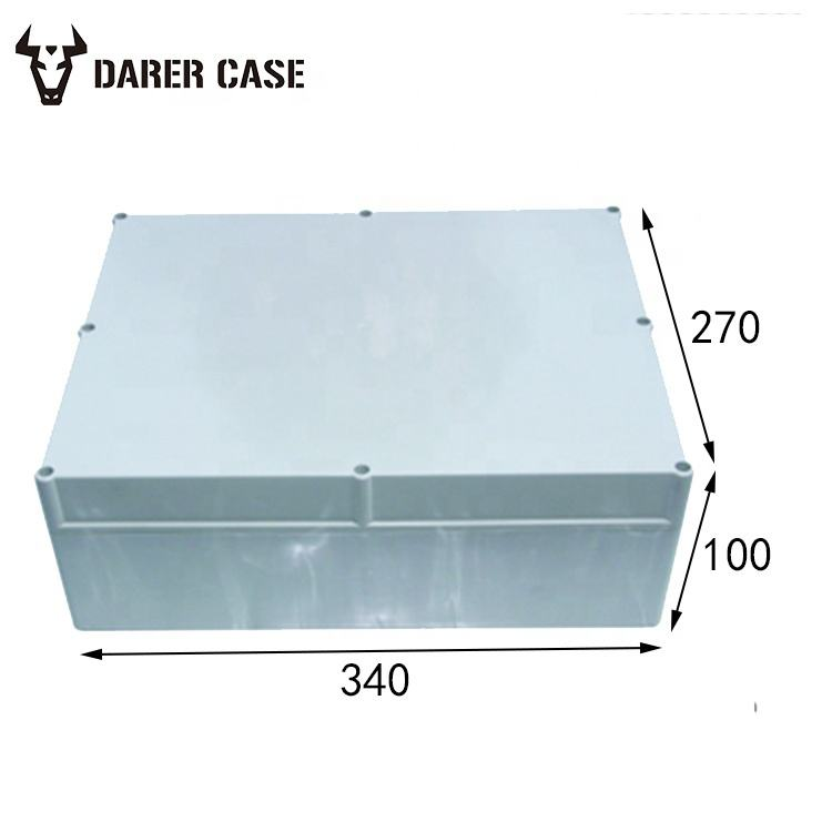 DE296 340*270*100mm outdoor pvc plastic waterproof junction box for electronic