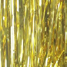 Hotsell 2019 Wholesale Christmas Party decor tinsel metallic gold foil fringe curtain for party supplies