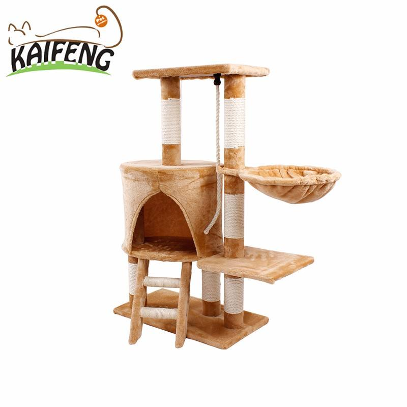 Amazon Best Selling Wooden Pet House Cat Tower Cat Condo Tree Factory Direct Providers