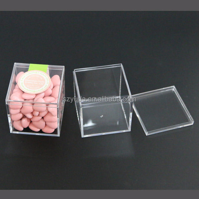Food safe Acrylic Package cube box Clear Candy Box 55x55x55mm