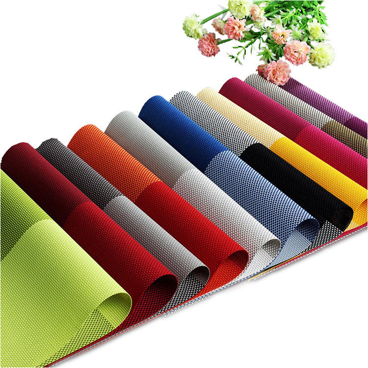 Custom Printed colorful safe dining table place mat , eco-friendly hot food restaurant coffee plastic pvc placemat