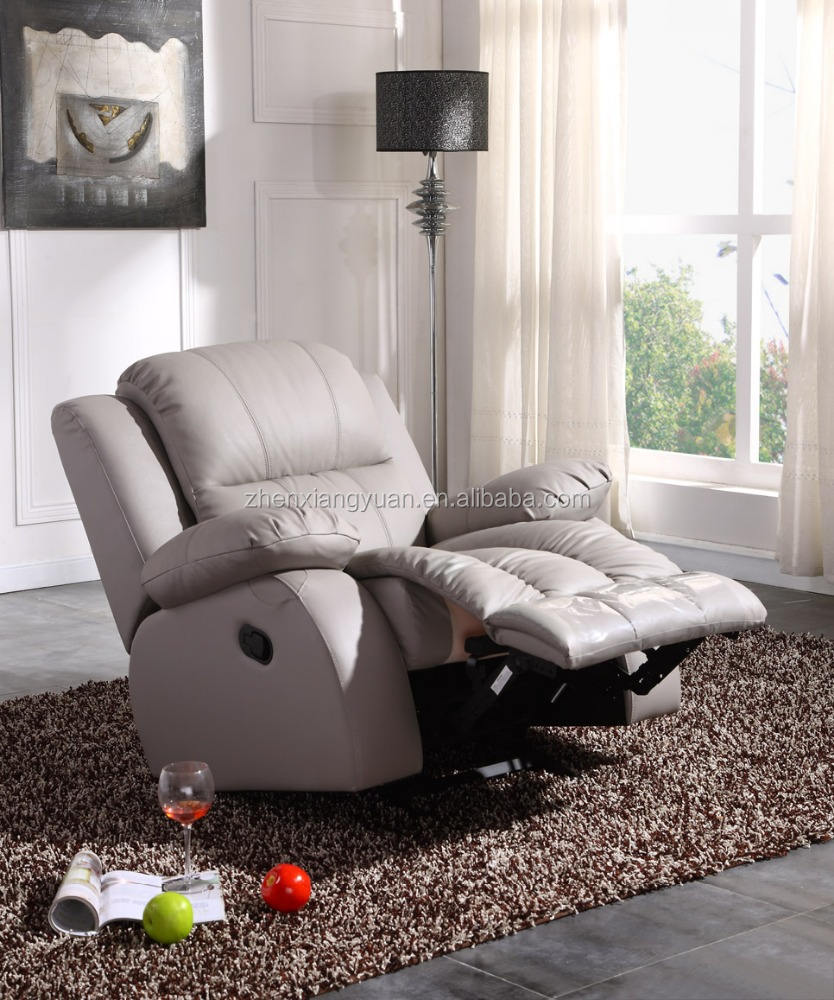 2020 fashion Top selling grey leather functional chair with rocker recliner