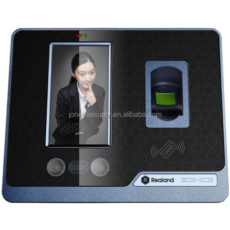Best selling biometric fingerprint face recognition HD 4.3 inch TFT LCD touch screen time attendance system