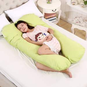 2020 Amazon New design Hot Selling Custom Logo Pink Color U Shape Full Body Sleeping Pillow for Pregnant Women