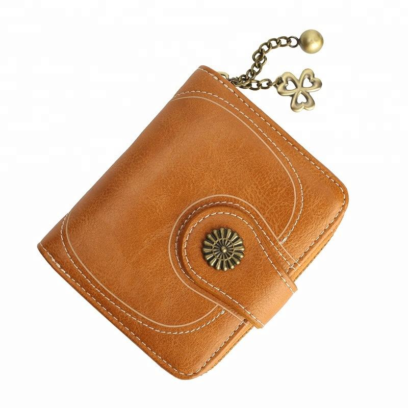 High Quality Young Girl Lady Fashion Mini PU Leather Wallet Women Money Clutch Bag