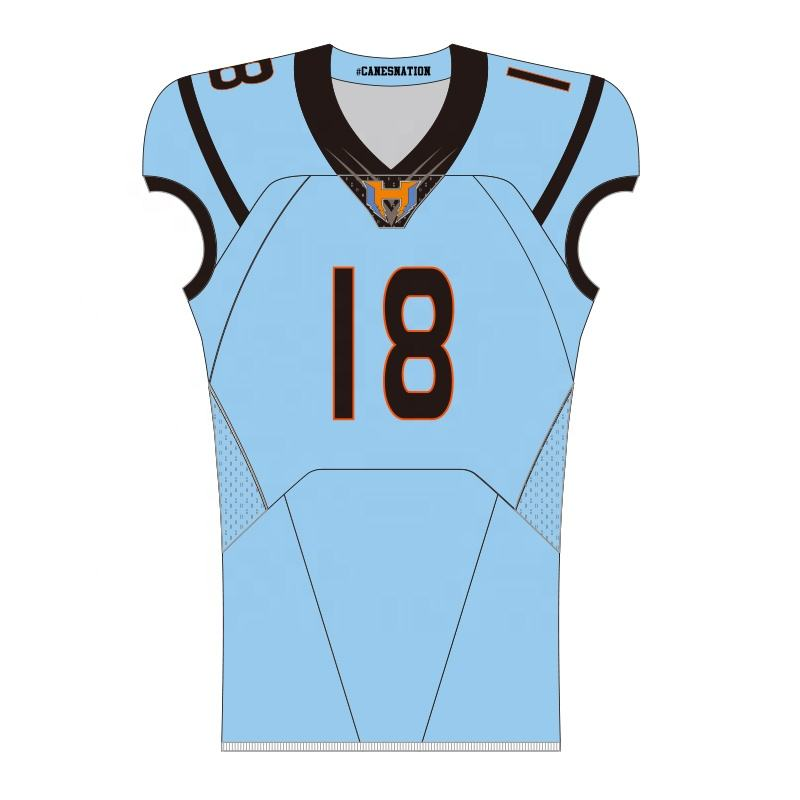 Custom American football jersey and pants