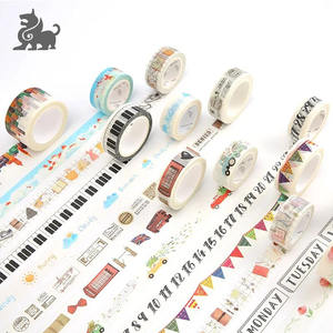 Writing printed custom washi Japanese paper tape for gift box