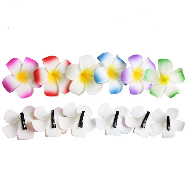 Meisjes Teens Kids Volwassenen Bridal Wedding Party Hawaiiaanse <span class=keywords><strong>Plumeria</strong></span> Flower Foam Haar Clip