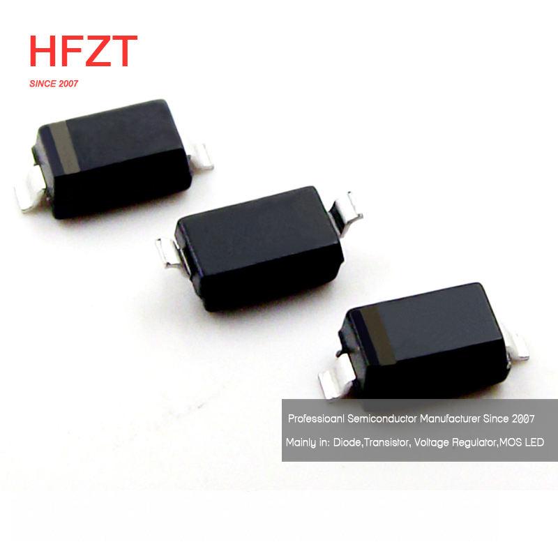SOD-323 3.9V Zener BZT52C3V9S-7-F RoHS Doide Inc 100pcs