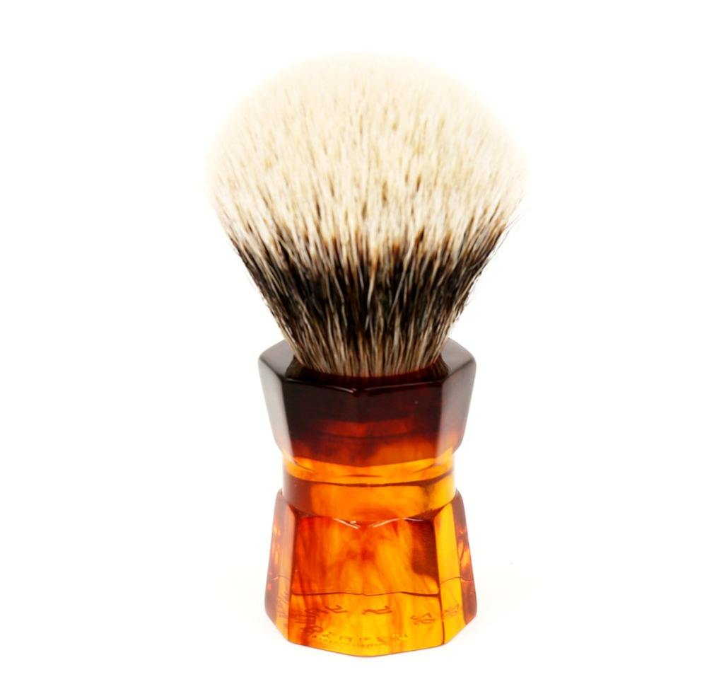 Yaqi 26mm Moka Express Two Band Badger Hair Men's Beard Shaving Brush