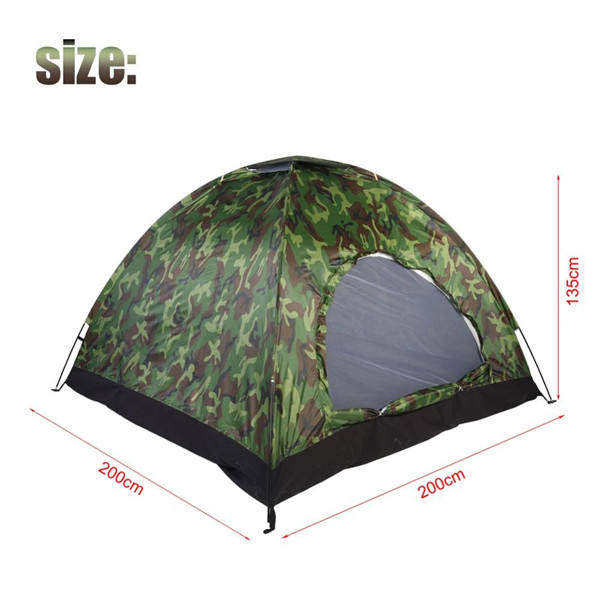 2 To 4 Person Outdoor Camouflage UV Protection Waterproof Big Tent for Family Camping Hiking