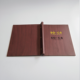 China Cookbook Printing Customize LOGO Hotel Leather Bill Folder