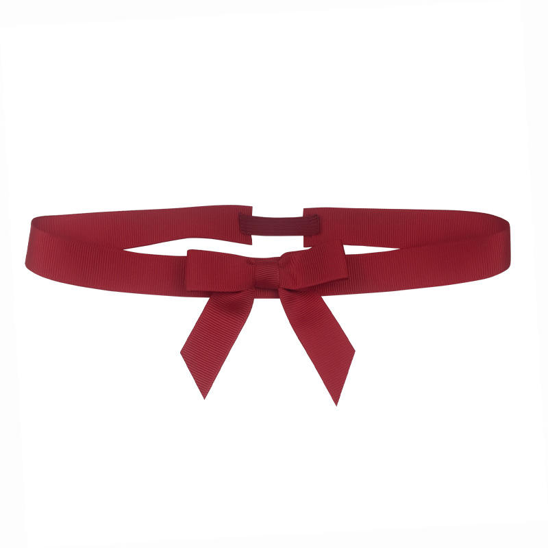 Free Samples Red Grosgrain Ribbon Pre-tied bows with elastic band