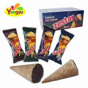 halal funny Choco Biscuit Cup Chocolate Ice Cream Cone With Chocolate Cup